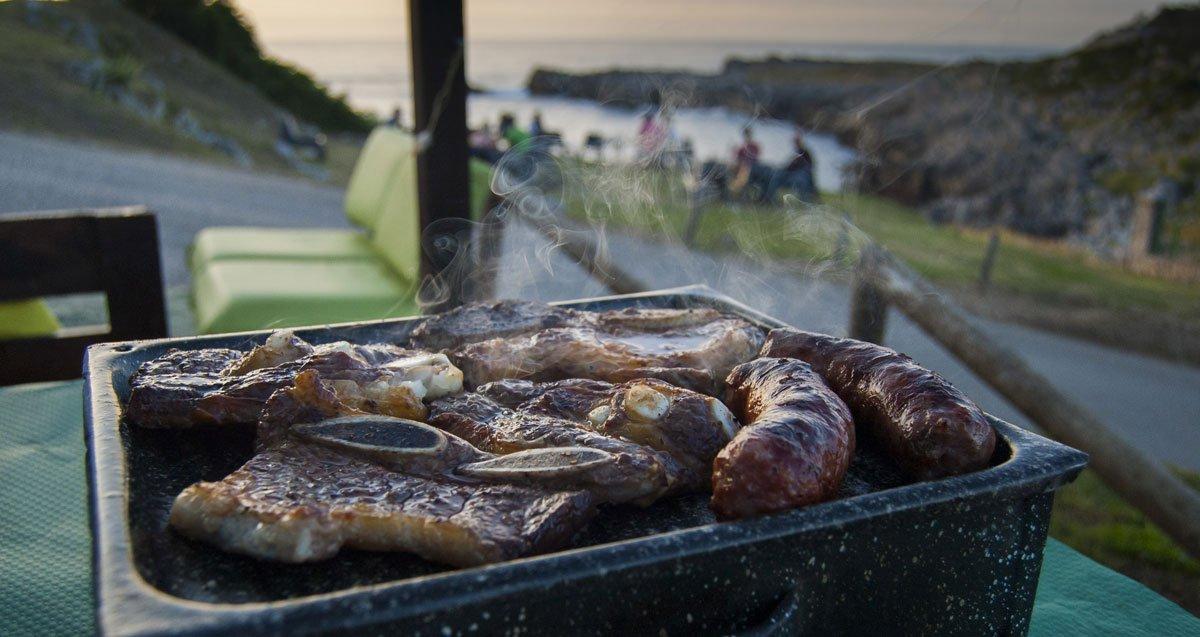 Parrillada de carne en el restaurante Asador Rocamar de Islares - Castro Urdiales